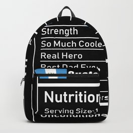 Guatemalan Dad Nutrition Facts Fathers Backpack