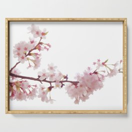 Cherry Blossom Flowers Serving Tray