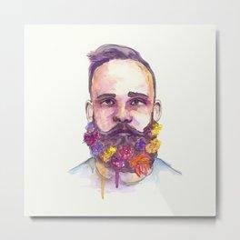 Flower Beard Metal Print
