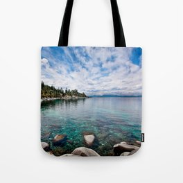 Tranquility Lake Tahoe Tote Bag