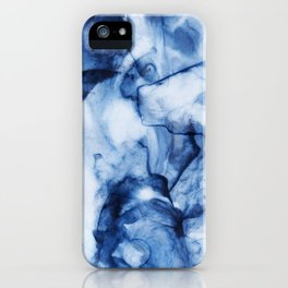 Blue Watercolor/Marble iPhone Case
