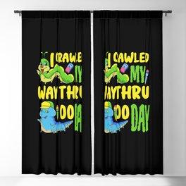 100 School Days 100th Day Of School 2021 caterpillar Student Blackout Curtain