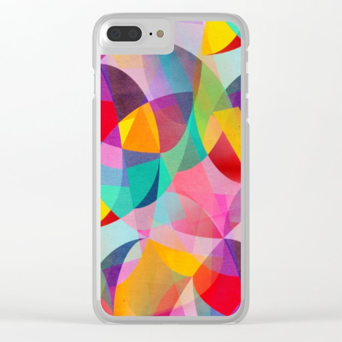 Girly Geometric Dreams Clear iPhone Case