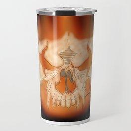 Flaming skull Travel Mug