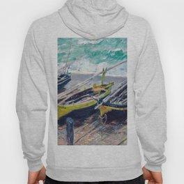 Three Fishing Boats by Claude Monet Hoody