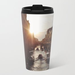 BOAT - STREETS - RIVER - TOWN - LIFE - CULTURE - PHOTOGRAPHY Travel Mug