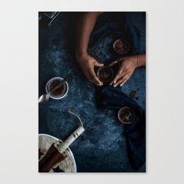 Ethiopian Coffee Brûlée [Blue Scale] Canvas Print