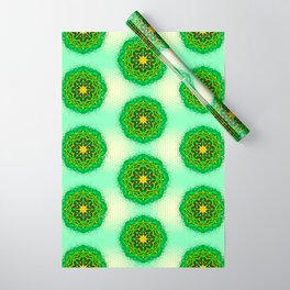 Mandala Zen Greenery Seamless Pattern Design Wrapping Paper
