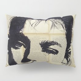 Can be - Portrait over vintage book's pages Pillow Sham