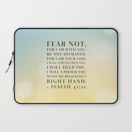 Isaiah 41:10 Bible Quote Laptop Sleeve