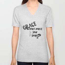 Grace What Have You Done Hillsong United Unisex V-Neck