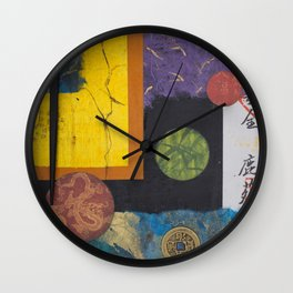 Floating World Wall Clock