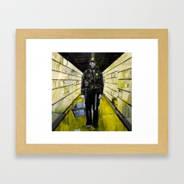 Policeman zombie in the looted supermarket. 2011. Framed Art Print