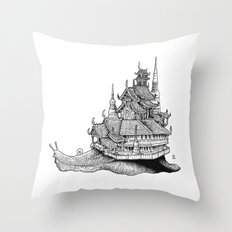 Snail Temple Throw Pillow