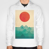 red panda Hoodies featuring The ocean, the sea, the wave by Picomodi