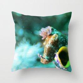 Ethereal nudibranch Throw Pillow