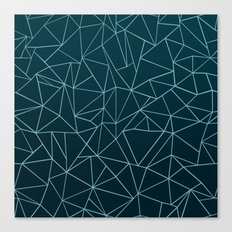 Ombre Ab Teal Canvas Print