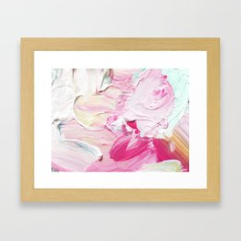 Minty Rose (Abstract Painting) Framed Art Print