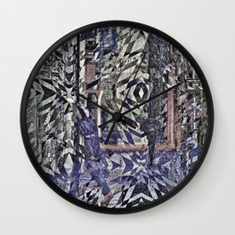 Ornate riddles indicated obsolescence limitations. Wall Clock