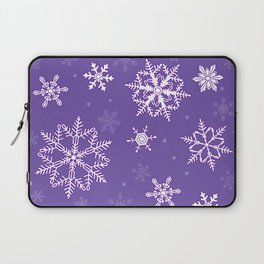 snowflakes on the blue Laptop Sleeve