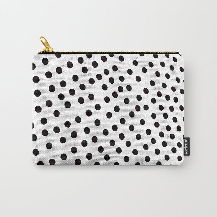 Warped Black Polka Dot Rain Carry-All Pouch