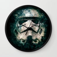 trooper Wall Clocks featuring Trooper by Sirenphotos