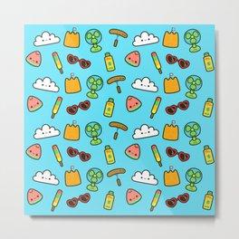 Cute summer pattern Metal Print