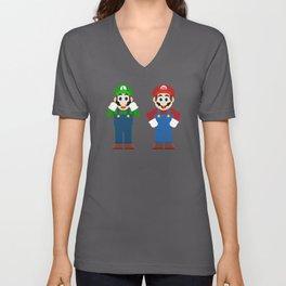 Mario & Luigi Unisex V-Neck