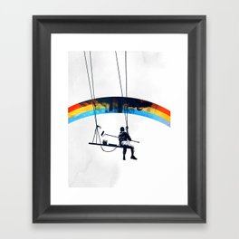 Paint it Black Framed Art Print