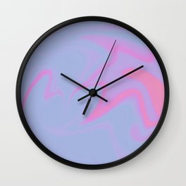 Swirl Print Wall Clock