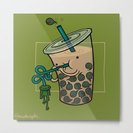 Food Series - Bubble Milk Tea Metal Print