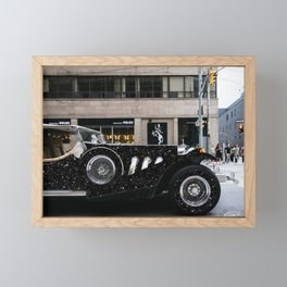 vintage car Framed Mini Art Print