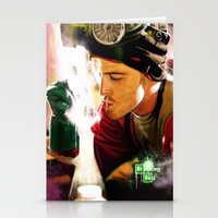 jesse pinkman Stationery Cards featuring Jesse Pinkman by p1xer