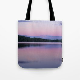 Sunset on Little Loon Tote Bag