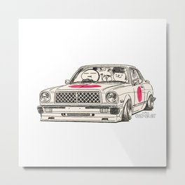 Crazy Car Art 0181 Metal Print
