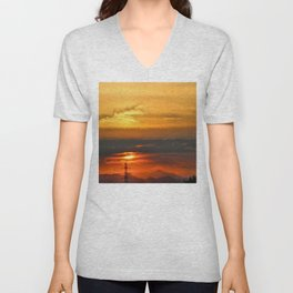 Sunset Horizon Unisex V-Neck