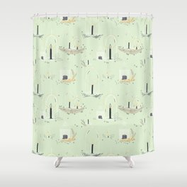 Fairy Land (mint) Shower Curtain