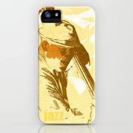 Jazz Contrabassist Poster iPhone Case