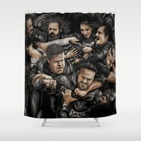 anarchy Shower Curtains featuring Sons of Anarchy-War by Denis O'Sullivan