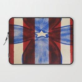 America Red White Blue Cross Laptop Sleeve