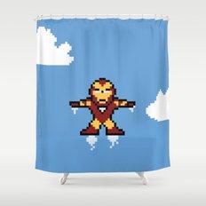 Iron Pixel Shower Curtain