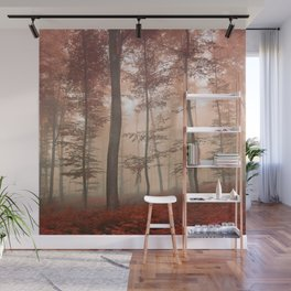 Misty Autumn Forest Wall Mural