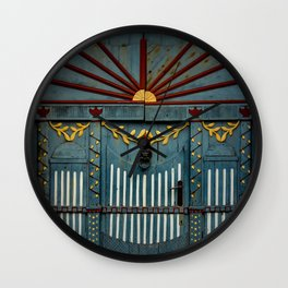 The Gate to Valhalla Wall Clock