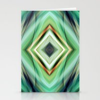 green pattern Stationery Cards featuring Pattern green  by Christine baessler