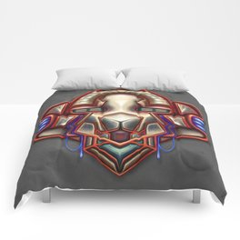 Summer Totem Red Comforters