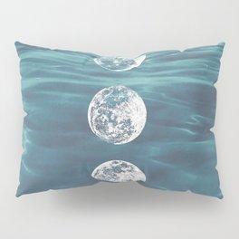 Moon on Blue Ocean Pillow Sham
