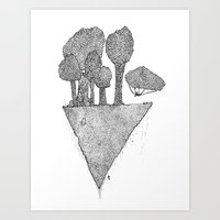 A slice of the world Art Print