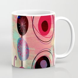 MidMod 2 Cats Graffiti Coffee Mug