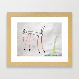 Children's drawings on paper Framed Art Print