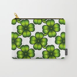 St. Patrick Day Clover 4 - Green Pattern Carry-All Pouch